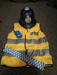 T412A: POLICE DRESSING UP SET AND 1 helmet, a phone and belt