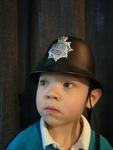 T435: POLICEMAN HELMET WITH SIREN