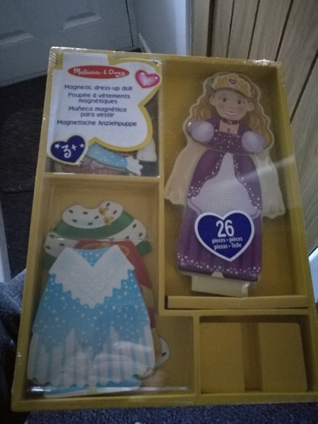 AG02: Magnetic DressUp Princess Wooden doll