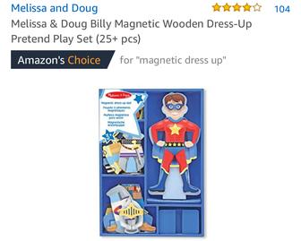 AG03: Magnetic DressUp Boy wooden doll
