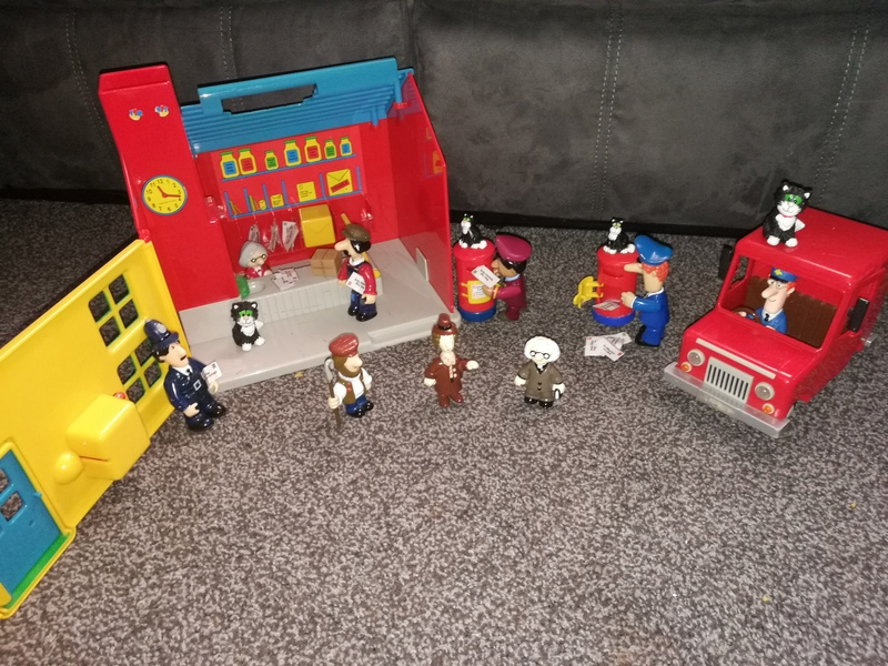 mi6: postman pat post office with figures and letters