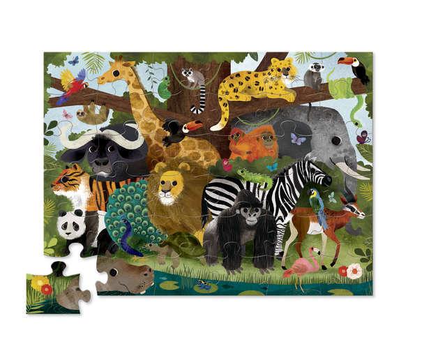 640: Jungle friends floor puzzle