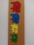 120: Elephant wooden puzzle