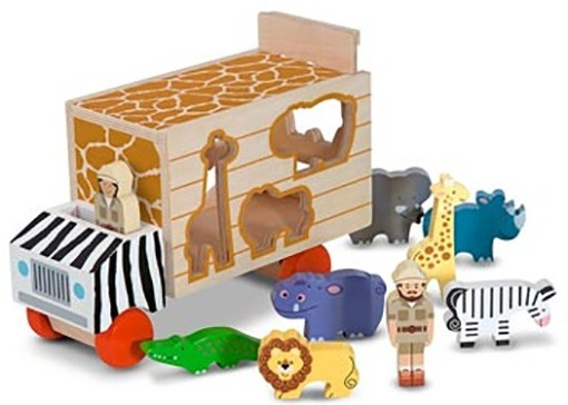 570: Animal rescue shape sorting truck