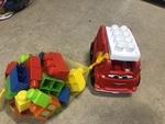 551: Mega Block Car and Blocks