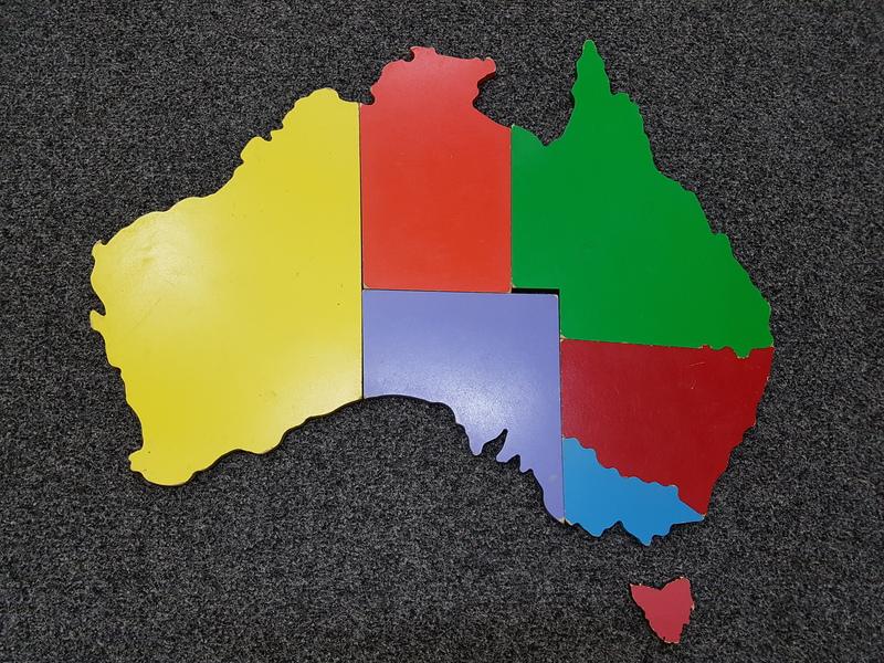 D1029: MAP OF AUSTRALIA FLOOR PUZZLE