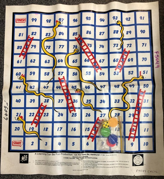 F5049: FLOOR GAME SNAKES AND LADDERS       A