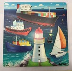 P1116: BUSY SEA PORT TRAY PUZZLE