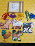 C1024: LACE AND TRACE FARM ANIMALS