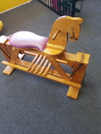 A5034: LARGE WOODEN ROCKING HORSE