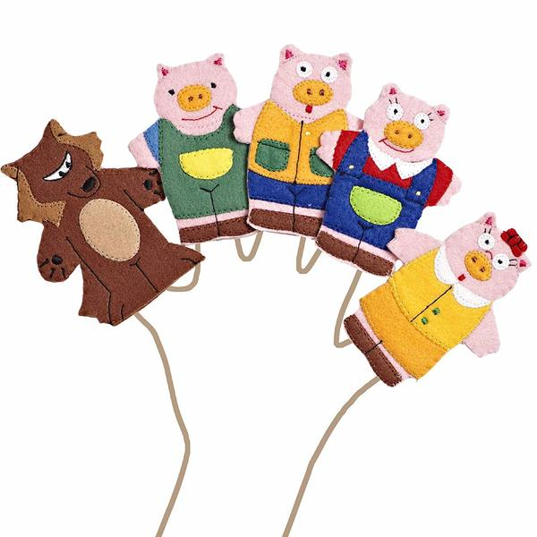 E1075: THREE LITTLE PIGS FINGER PUPPETS