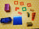 C1209: MAGNETIC TILES WITH 2 CAR BASES