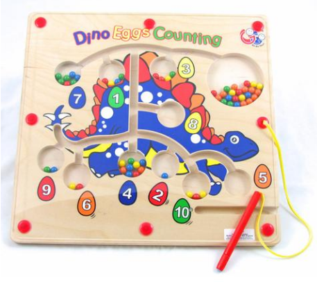 P0008: Dino Eggs Counting Magnet Puzzle