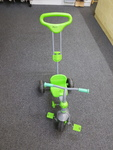 A0051: GREEN/ GREY TRIKE WITH HANDLE