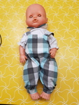 E1583: DOLL WITH OVERALLS
