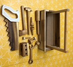 C1175: Wooden Tool Box