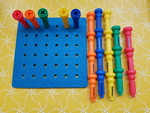 c0059: Peg board and pegs