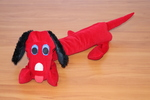 616: Weighted toy animal - red dog