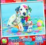 P74: 100 Piece Puzzle - Painted Puppy