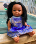 1408: Doll with blue dress