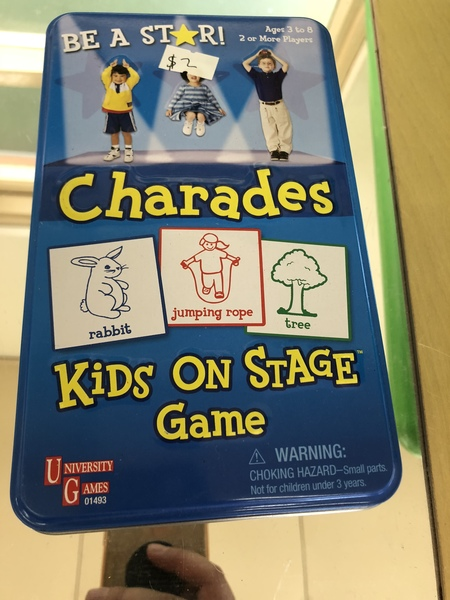G7: Charades card game in tin