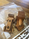 T60: Two wooden trains (comes with two)