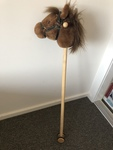 E133: Ride on horse head on a stick, with wheels