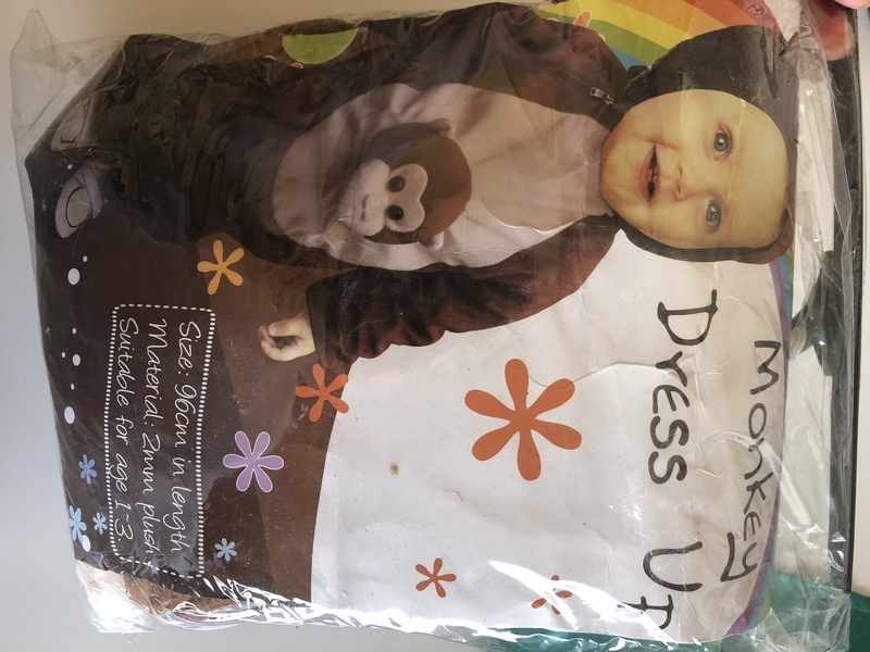 E137: Monkey dress up onesie outfit for small toddlers