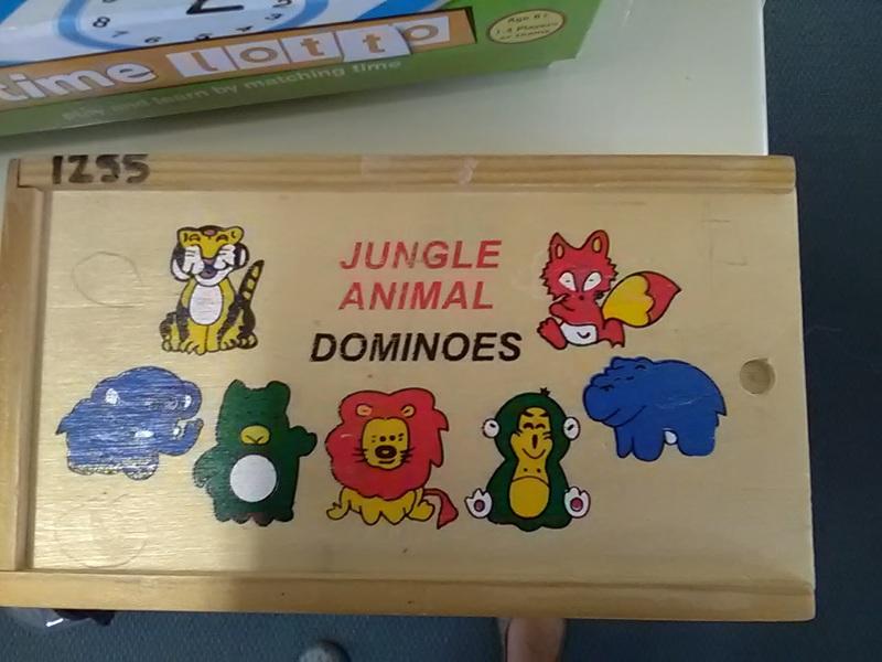 1255: Jungle Animal Dominoes