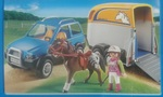 1314: Playmobil suv and horse trailer