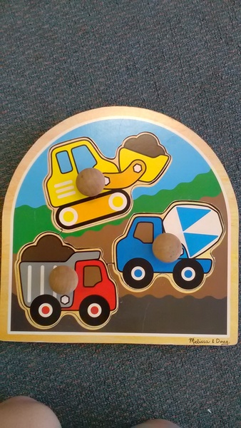 1345: 3 diggers chunky puzzle