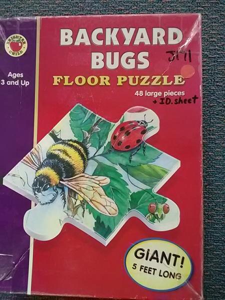 J171: Backyard Bugs Floor Puzzle