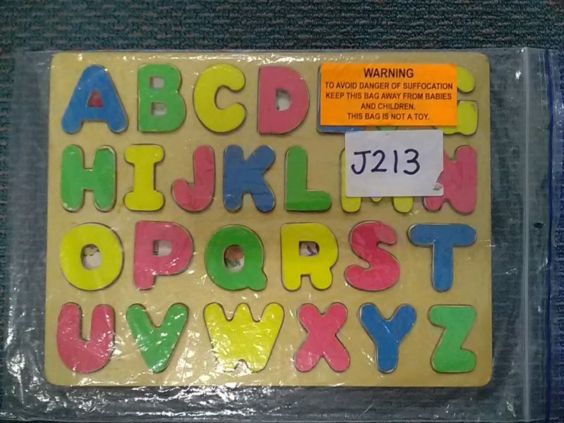 J213: Raised Wooden Alphabet Puzzle