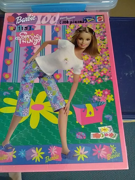 J1151: Barbie  Spring Thing Puzzle