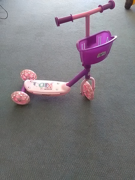 5: Pink scooter