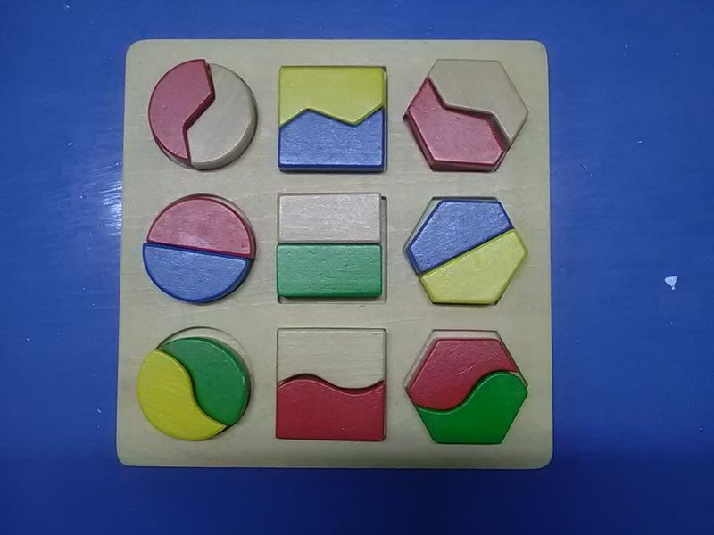 55: Wooden block shape puzzle
