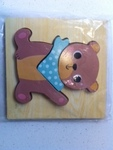 P018: Wooden Bear Puzzle