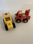 RP007: Wooden Fire Engine and Tractor