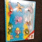 J48: Chunky knob puzzle - sea animals