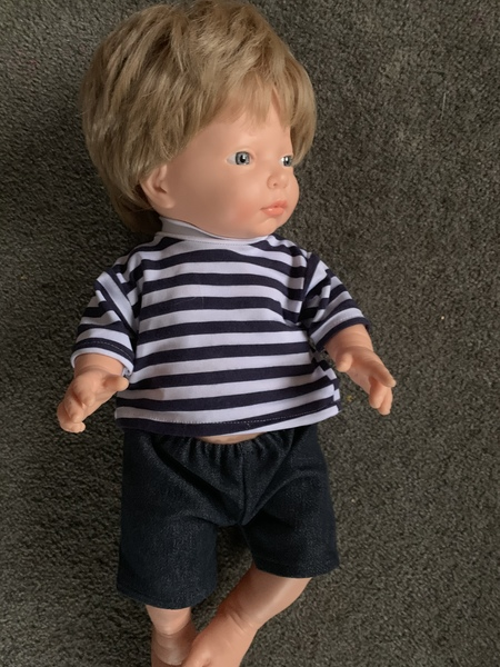 PPL47: Doll With Hair Caucasian Baby Boy