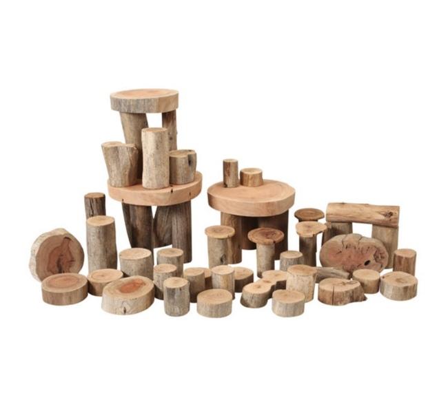 CON17: Natural Wood Tree Blocks