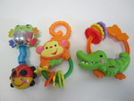 B042: 3 Fisher Price Rattles
