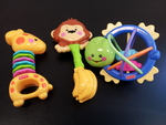 B047: 3 Fisher Price Rattles