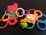B049: 3 Fisher Price Rattles
