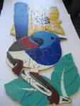 P387: Blue Wren Floor Puzzle