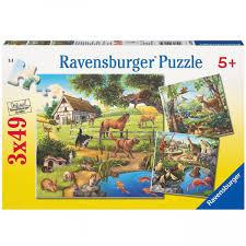P399: Animals - 3x49 Piece Puzzles