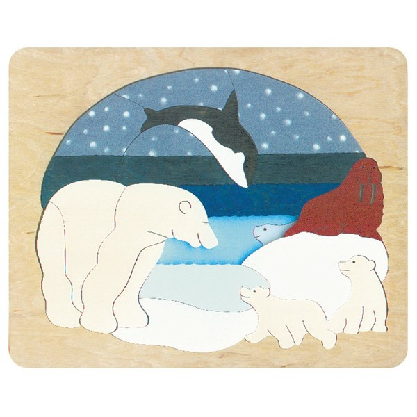 P493: Arctic Animals Double Layer Puzzle