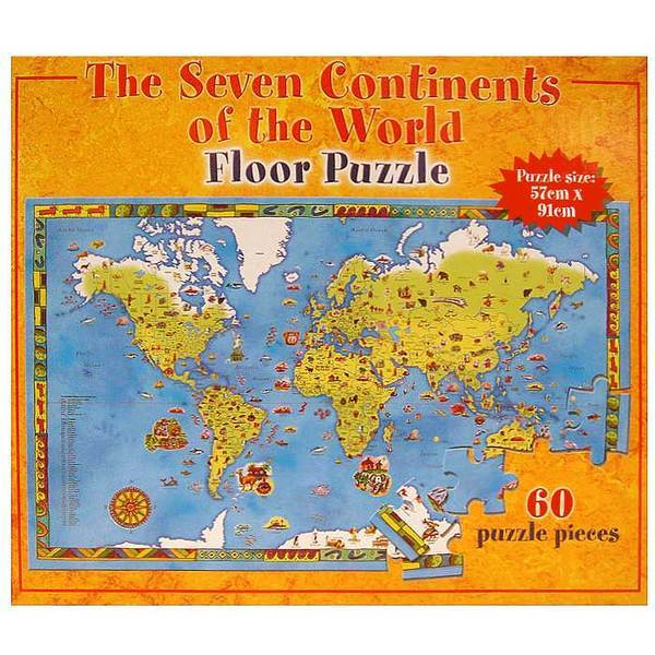 P014: Continents of the World Floor Puzzle