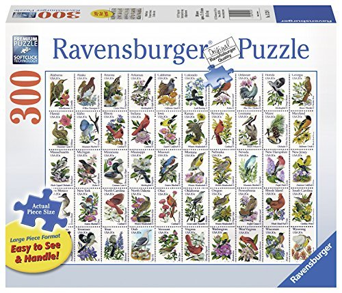 P541: 300 piece Puzzle - Bird Stamps