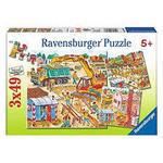 P603: Building - 3x49 Piece Puzzles